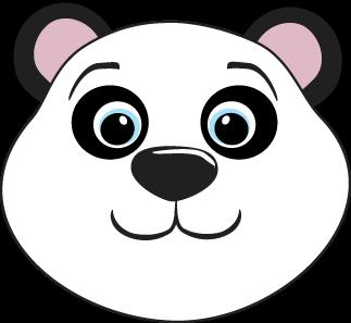Panda Bear Head Clip Art.