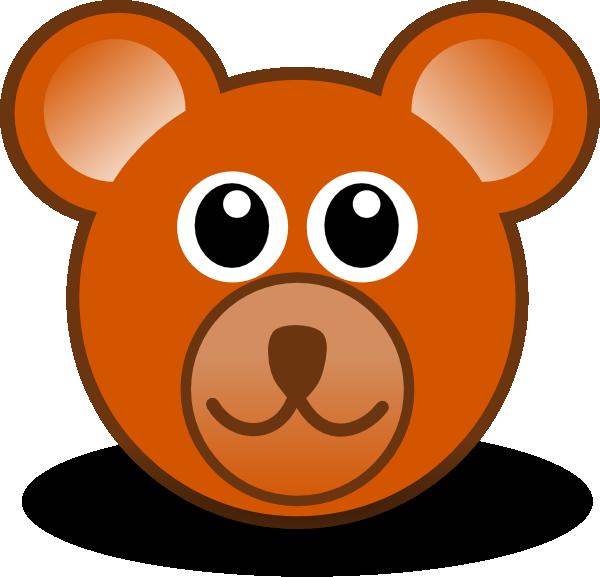 Bear head clipart.