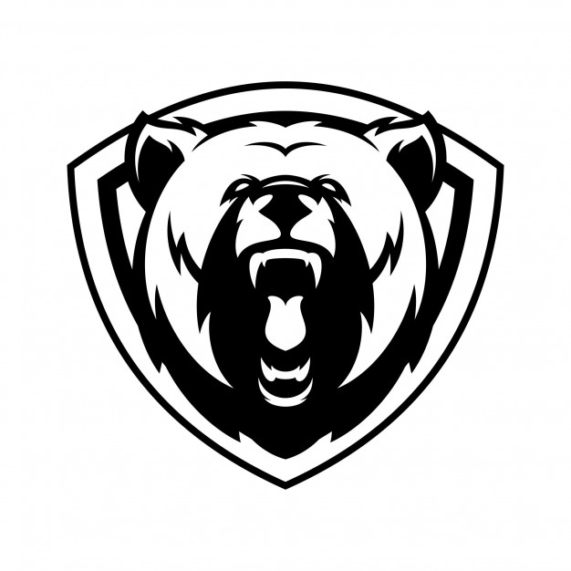 Bear animal sport mascot head logo vector Vector.