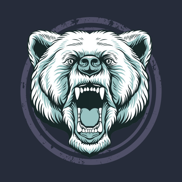 Alpha Bear Head Logo.