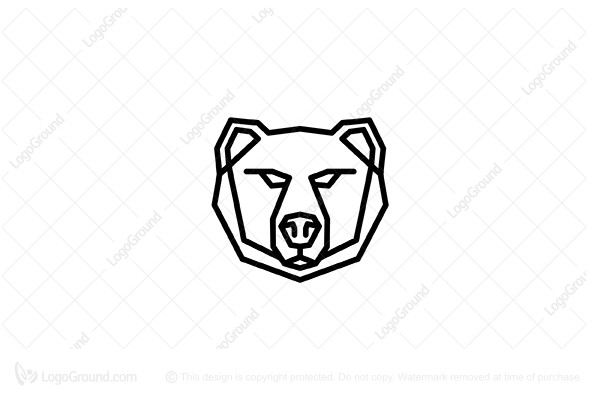 Exclusive Logo 158982, Bear Head Logo.