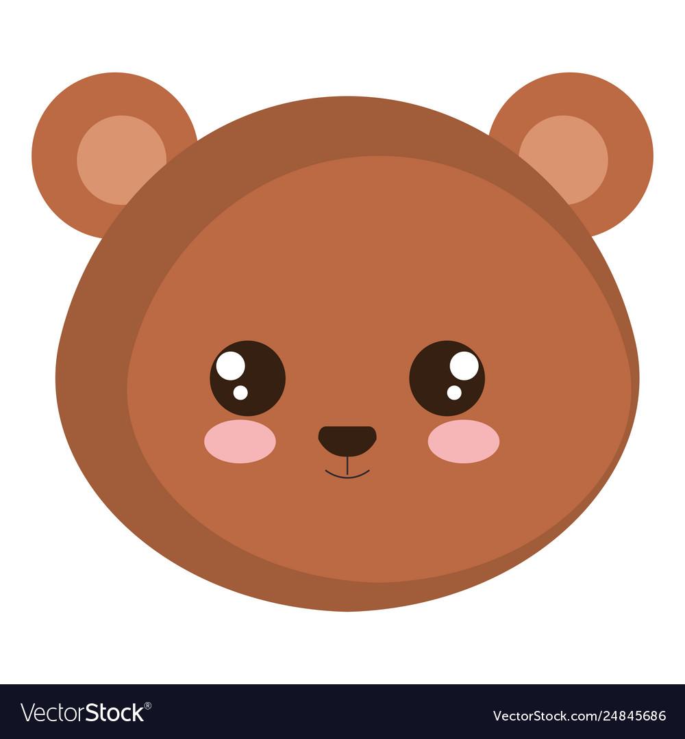 Cute bear head character.