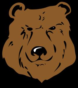 Brown Bear Head Drawing clip art.