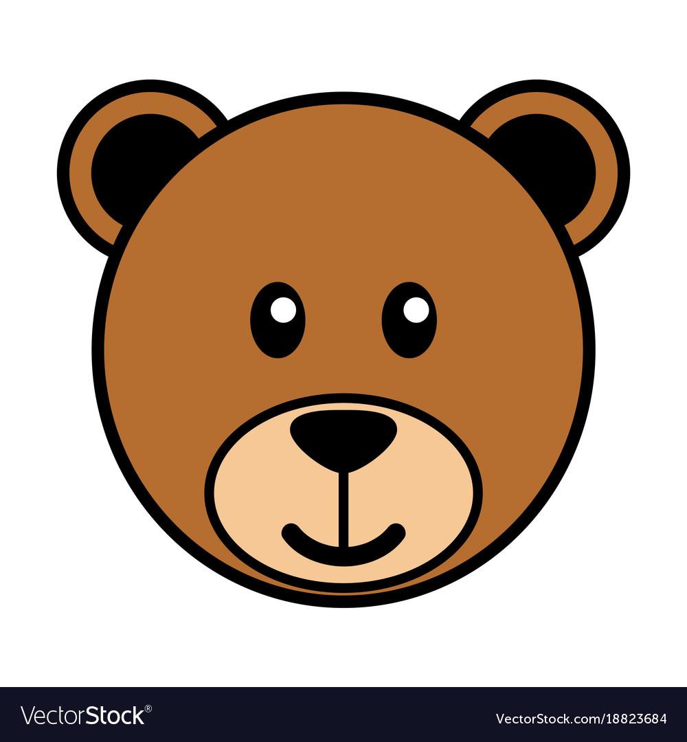 Simple cartoon of a cute bear.