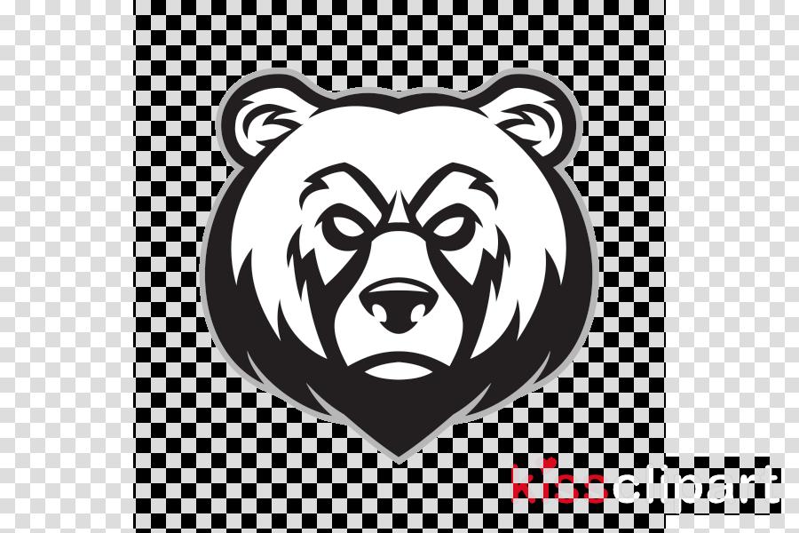 bear head grizzly bear logo wildlife clipart.