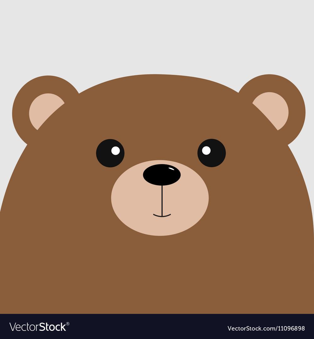 Bear grizzly big head Cute cartoon character.