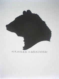 bear head silhouette.