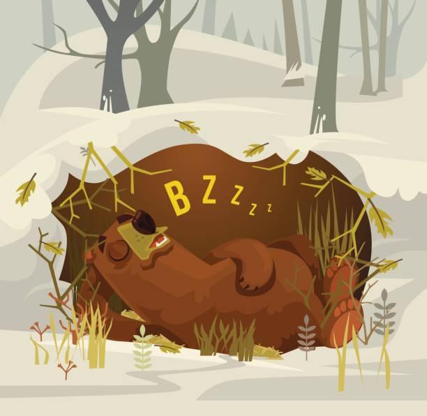 Best Hibernation Illustrations, Royalty.