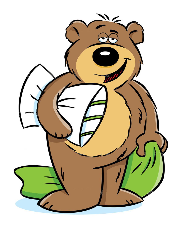 Hibernating bear clipart 2 » Clipart Station.