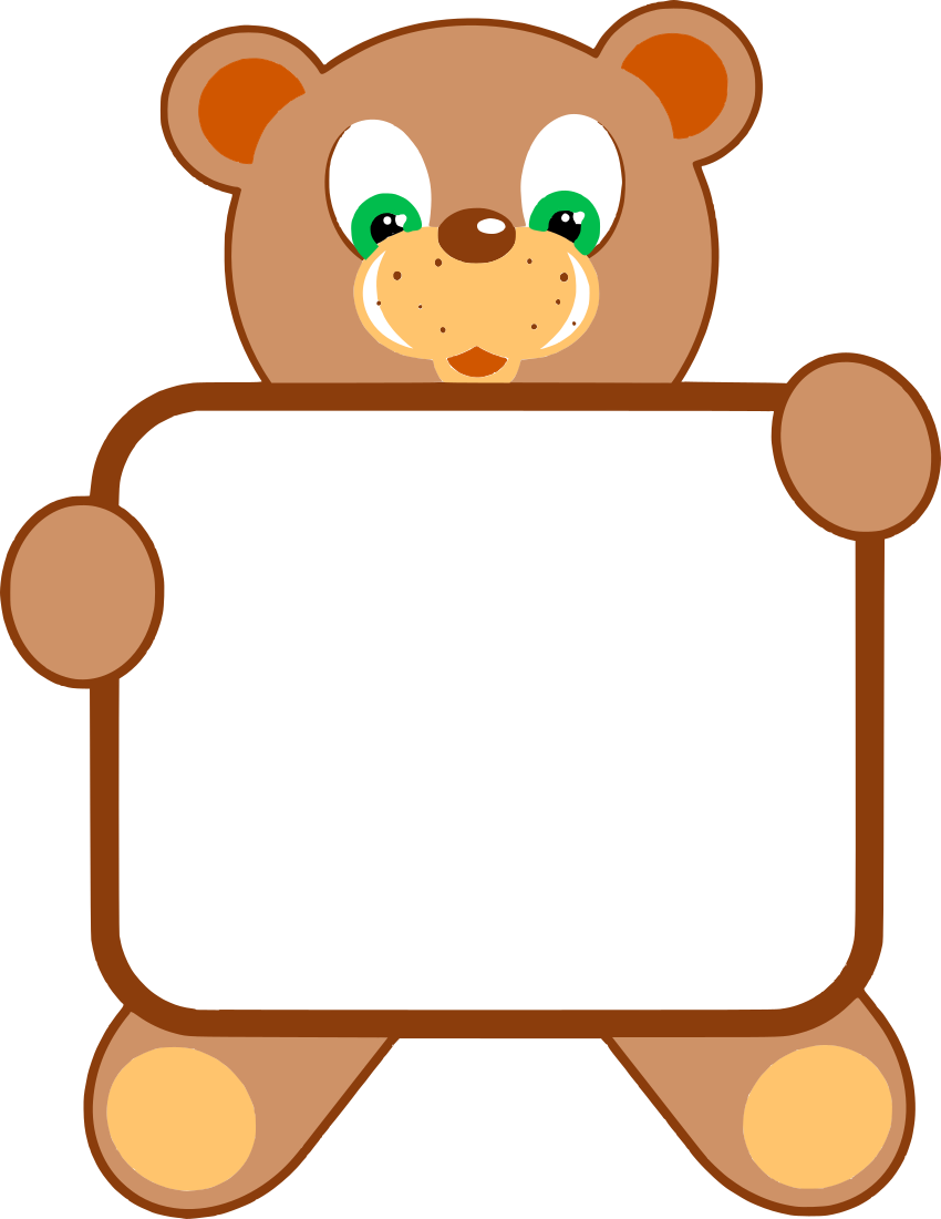 Animal Holding Sign Clipart.