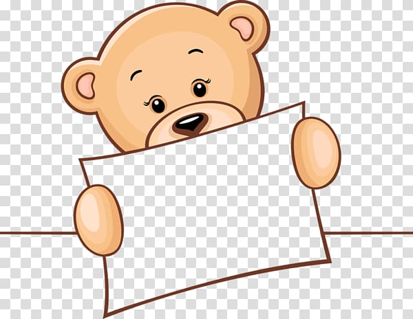 Teddy bear Drawing graphics , holding sign transparent.