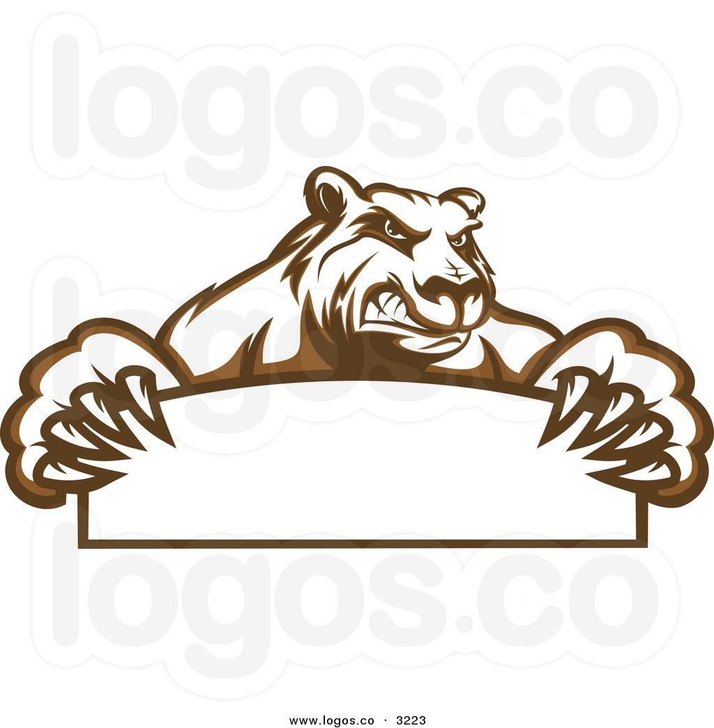 Brown Bear Bear Holding a Sign.