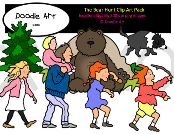 The Bear Hunt Clipart Pack.