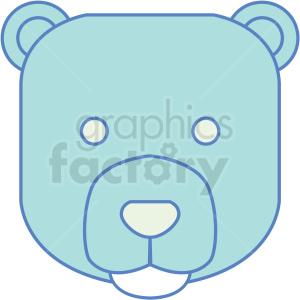 bear icon . Royalty.