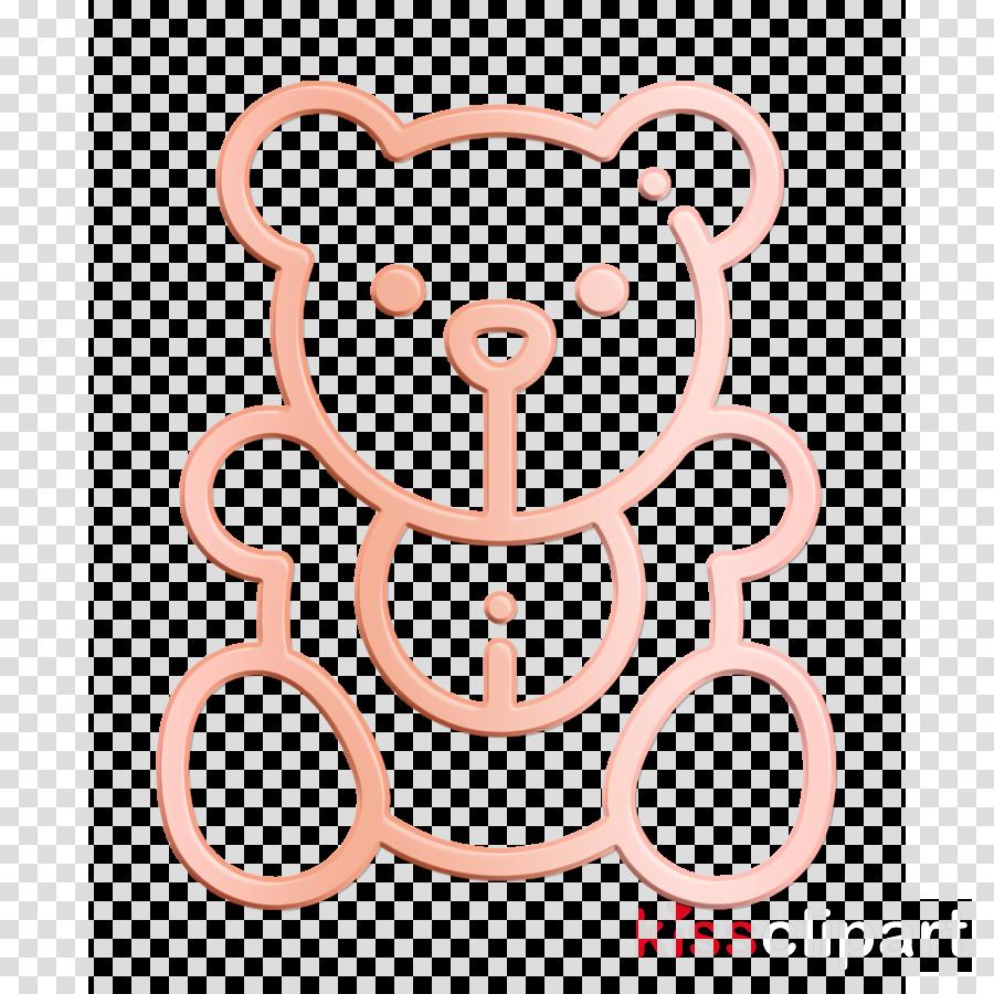 Bear icon Christmas Toys icon Teddy bear icon clipart.