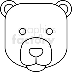 black and white bear icon . Royalty.