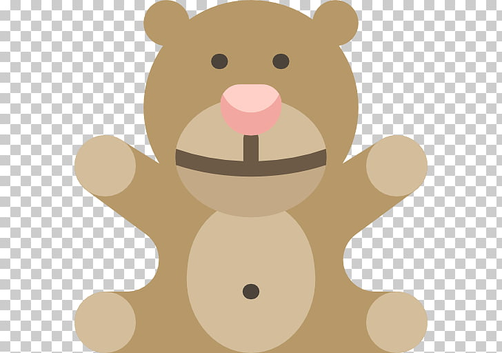 Child Infant Scalable Graphics Teddy bear Icon, Brown Bear.