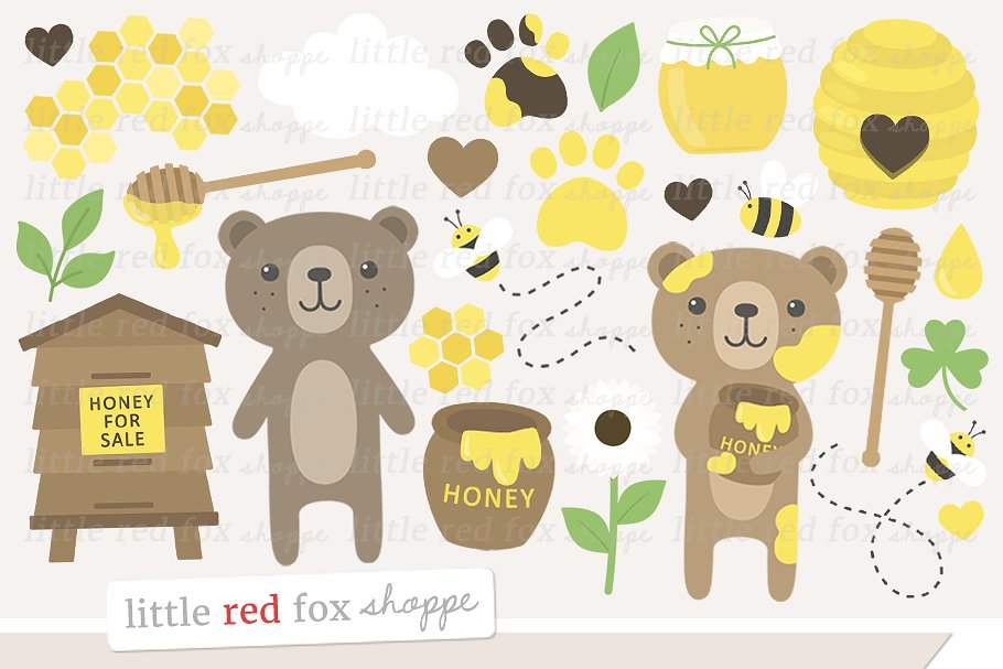 Honey Bears Clipart.