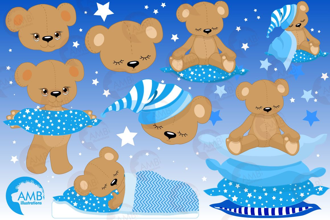 Teddy bear, nursery, baby boy, baby blue bear, clipart.