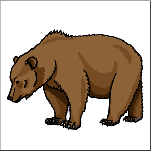 Clip Art: Brown Bear Color 2 I abcteach.com.