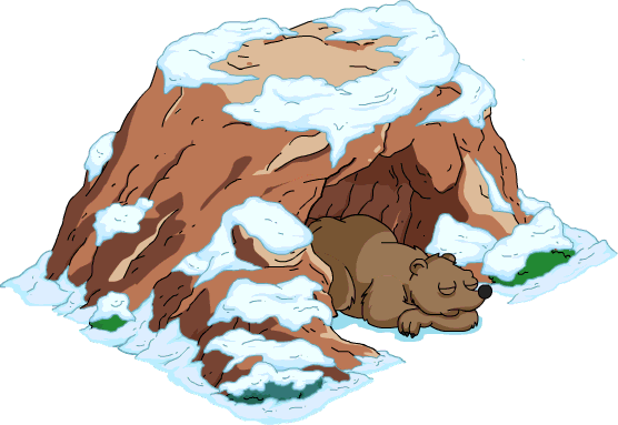 Bear In A Cave Clipart.