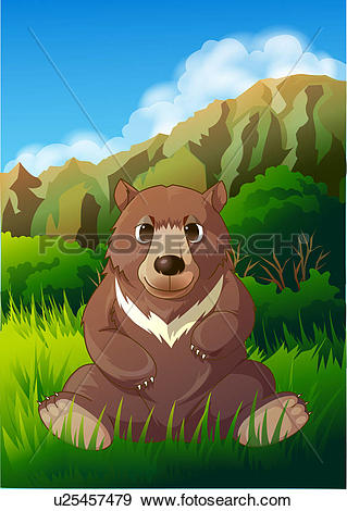 Stock Illustration of Bear in Forest u25457479.