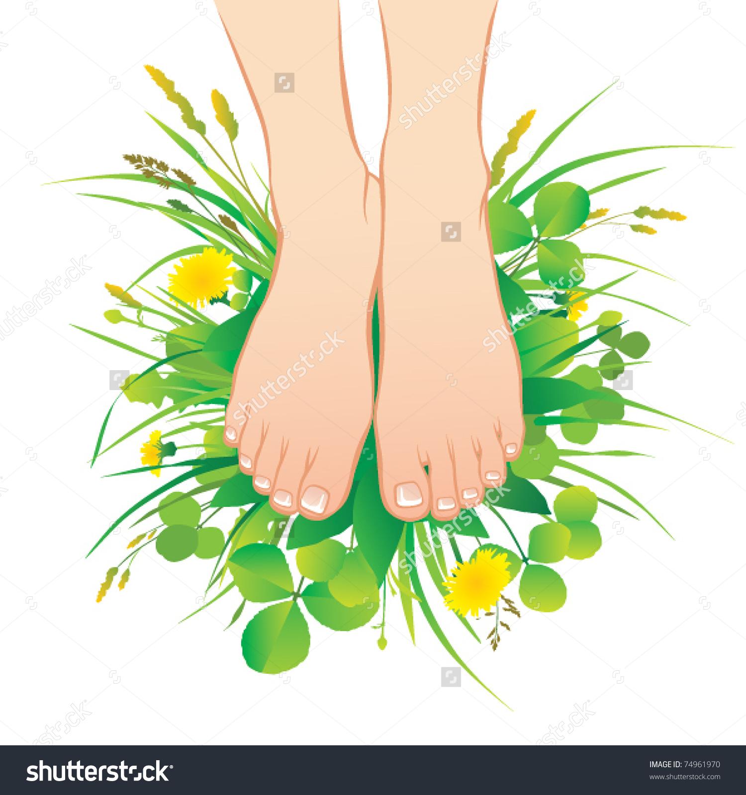 Feet grass clipart.