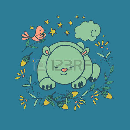 Bear In Grass Stock Vector Illustration And Royalty Free Bear In.