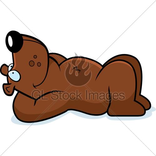 Cartoon Bear Resting · GL Stock Images.