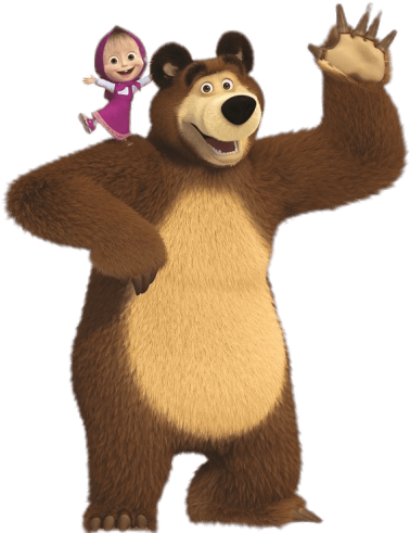 Free Png Download Masha On Bear\'s Shoulder Clipart.