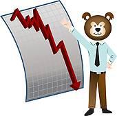 Bear Market Clip Art.