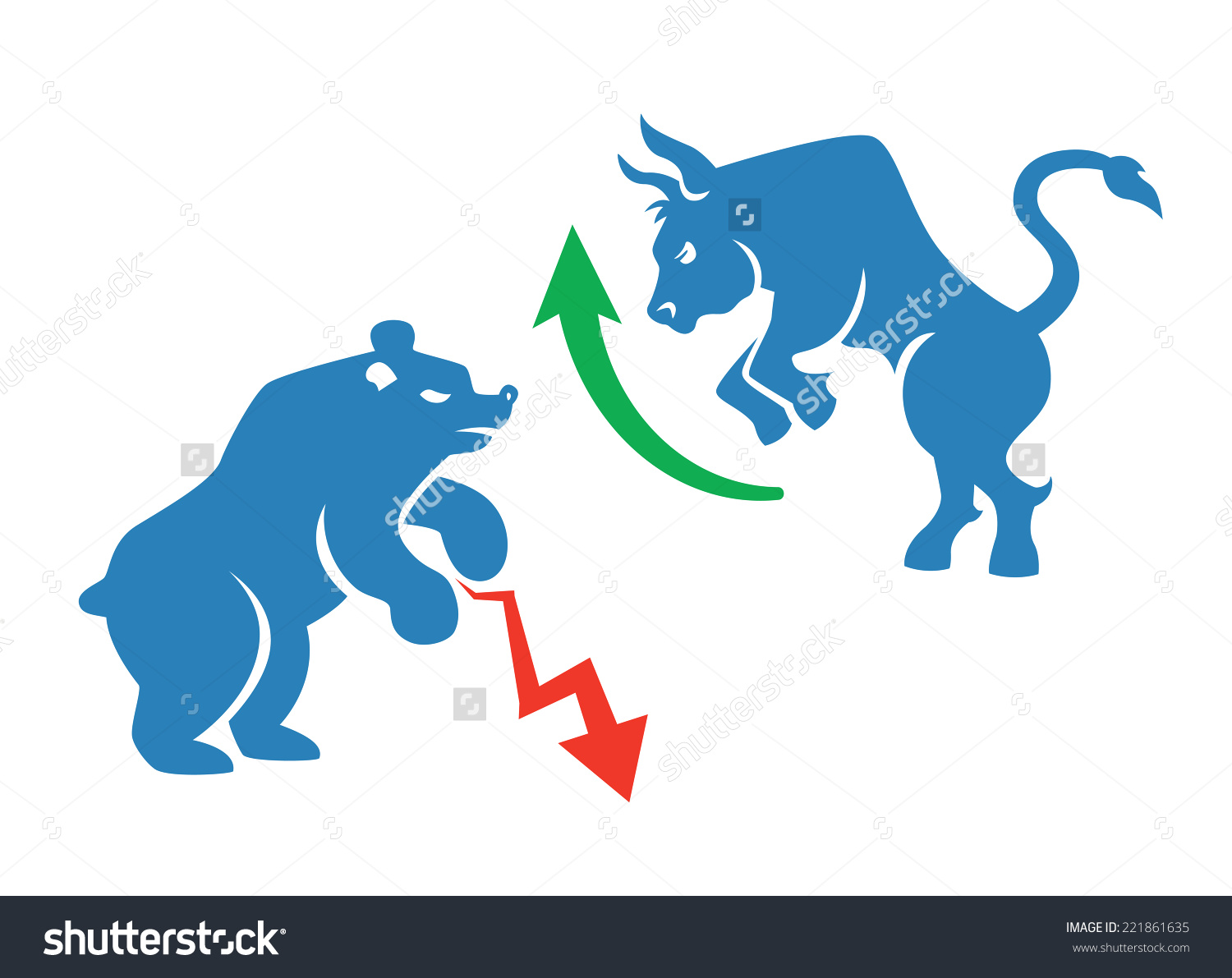 Vector Stock Market Icons Bear Bull Stock Vector 221861635.