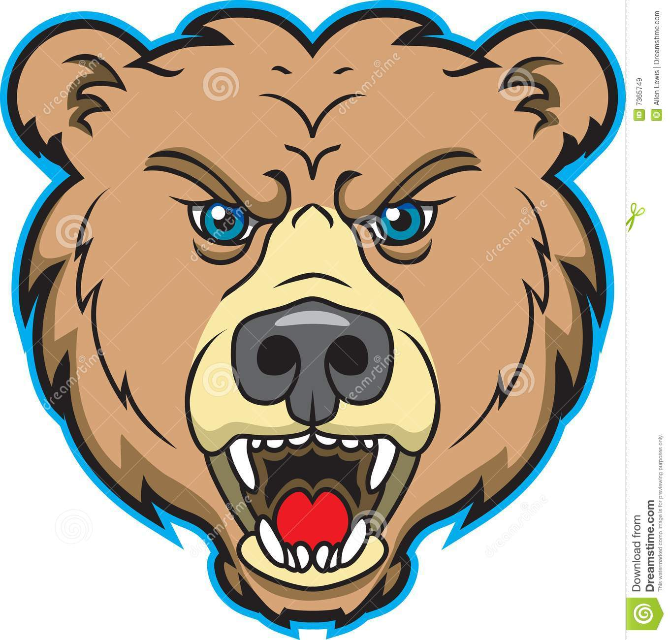 Bear Mascot Logo stock vector. Illustration of growl, animal.