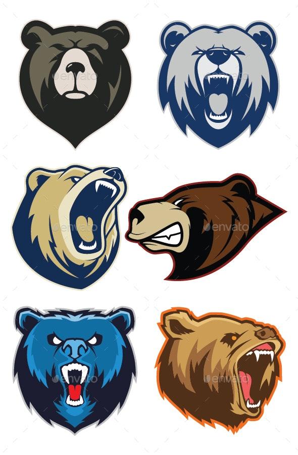 Bear Mascot Logo.