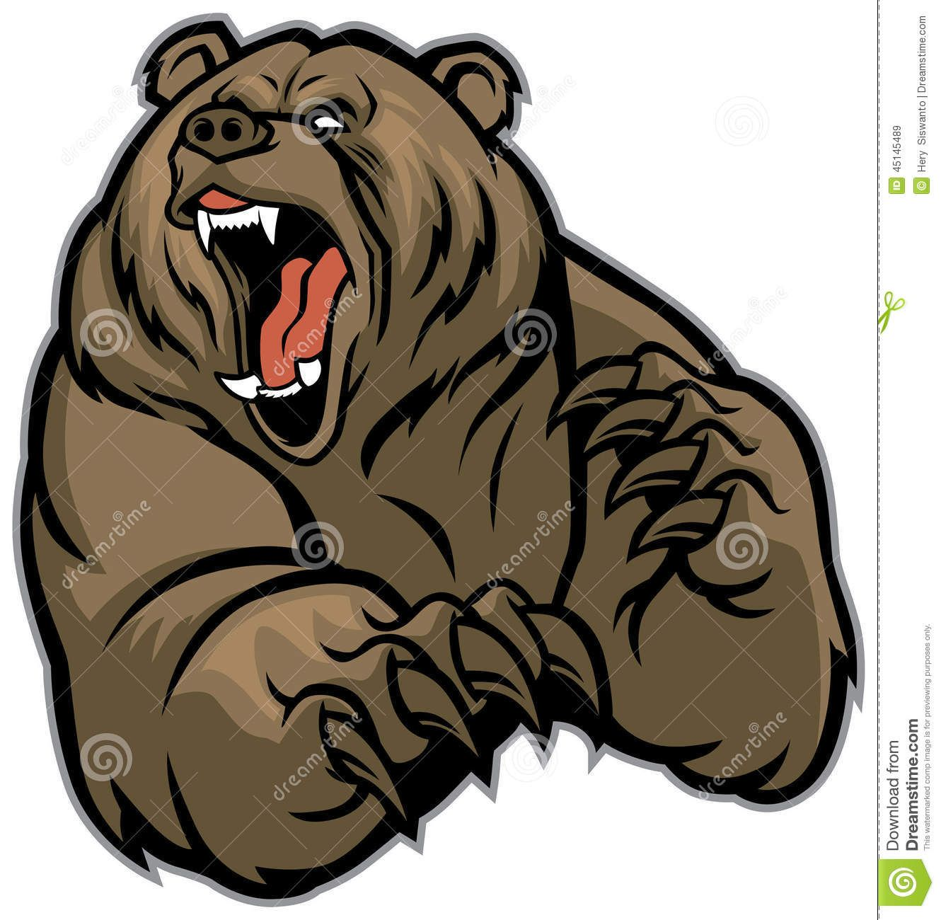 Grizzly Bear Mascot.