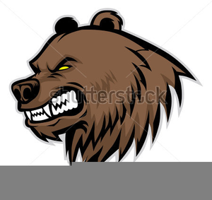 Grizzly Bear Mascot Clipart.