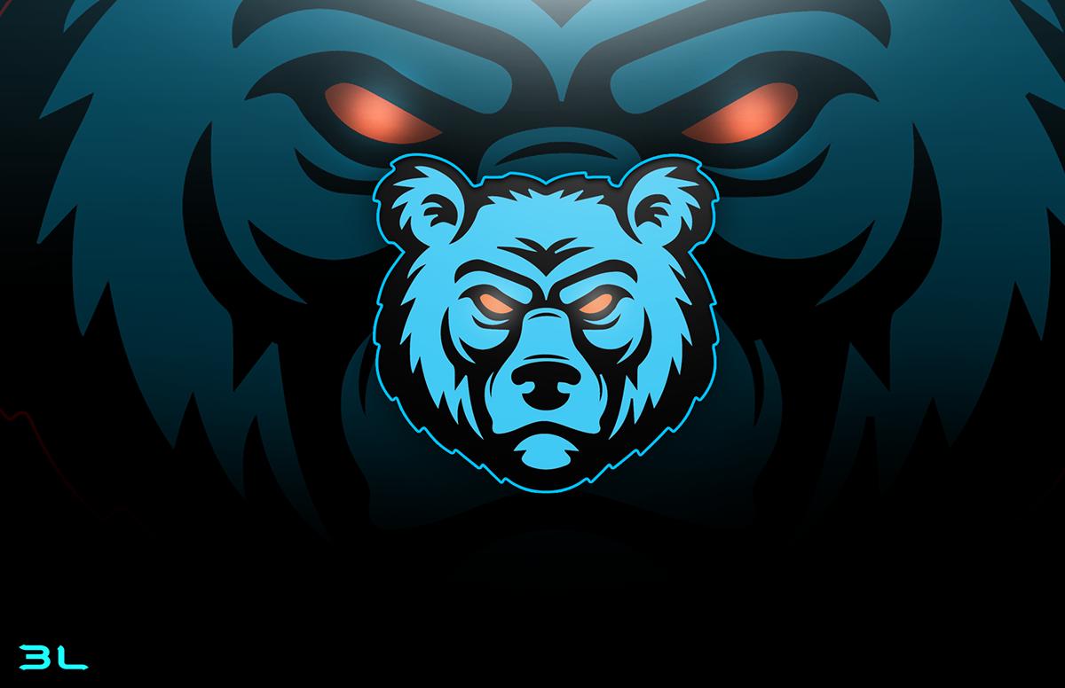 eSport Bear Mascot Logo on Student Show.