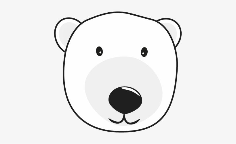 Polar Bear Nose Clipart Graphic Free.