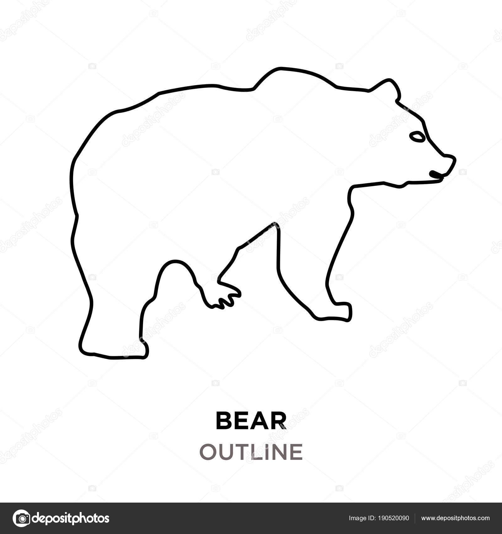 Clipart: teddy bear outline.