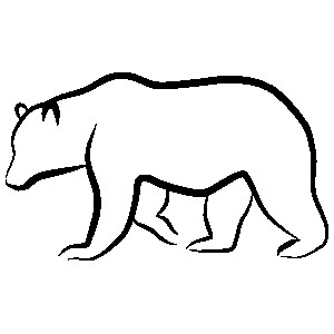 Bear Outline Drawing.
