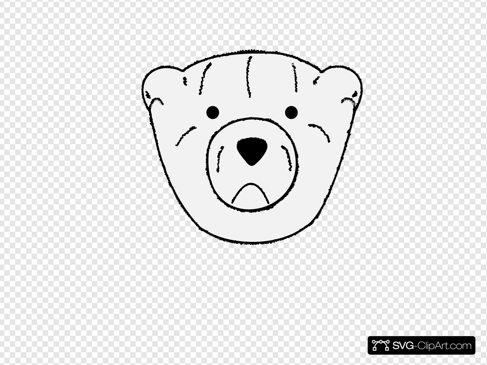 Bear Outline Clip art, Icon and SVG.