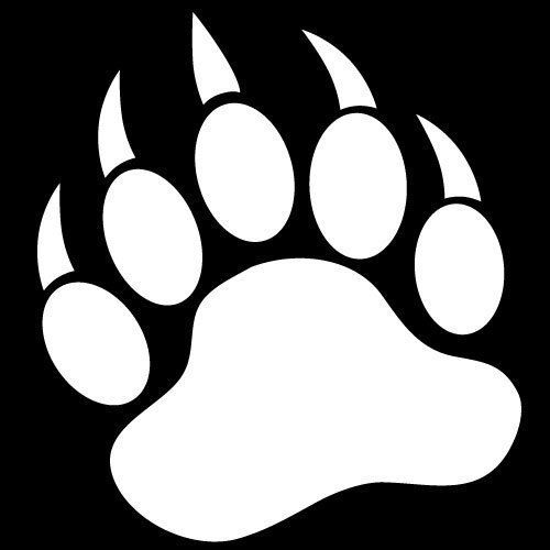Bear Paw Clipart Black And White Clipart Panda Free Clipart Images.