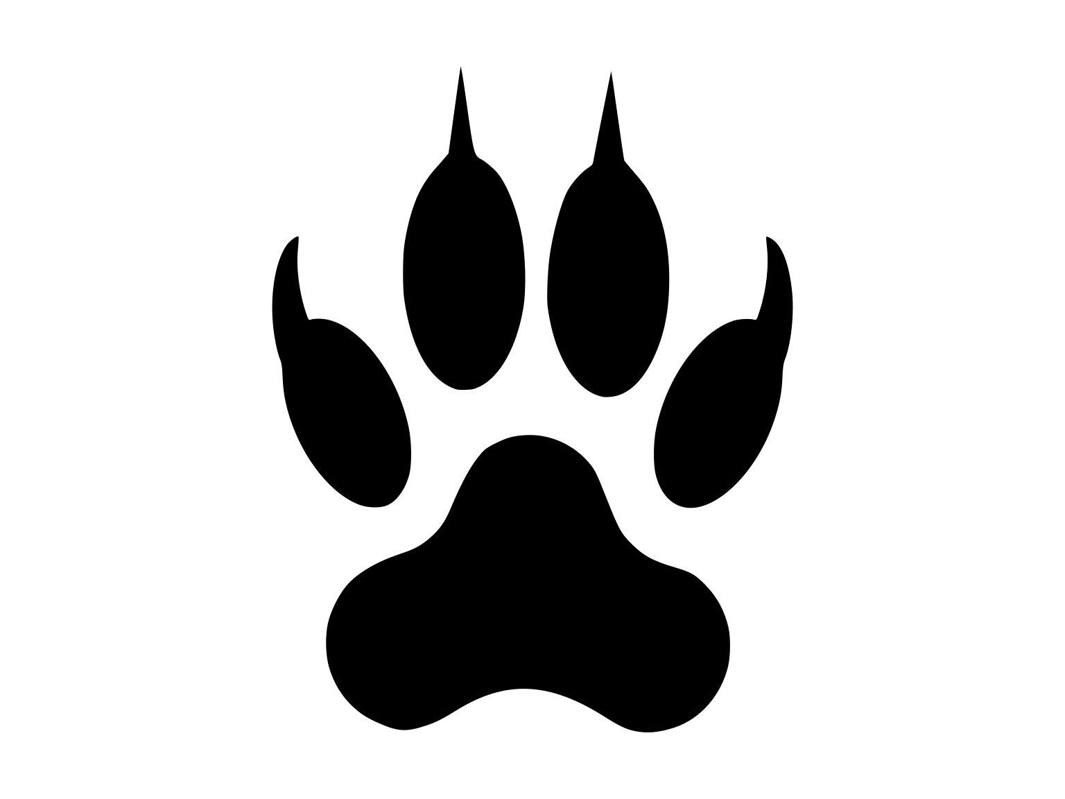 Bear Paw Svg Clipart, Bear Paw Png Clip Art, Bear Paw Dxf File, Bear Paw  Svg Image, Bear Paw Digital Cut File, Bear Paw Digital Clip Art.