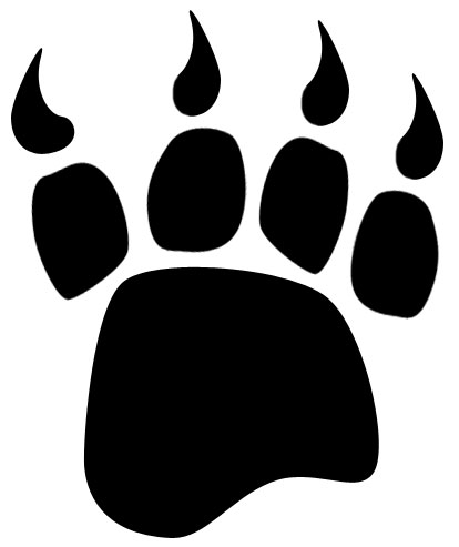 Bear Paw Clipart Black And White.