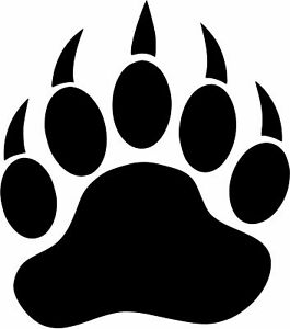 Details about Bear Paw Vinyl Decal Sticker Work Home Car Truck Wall SUV.