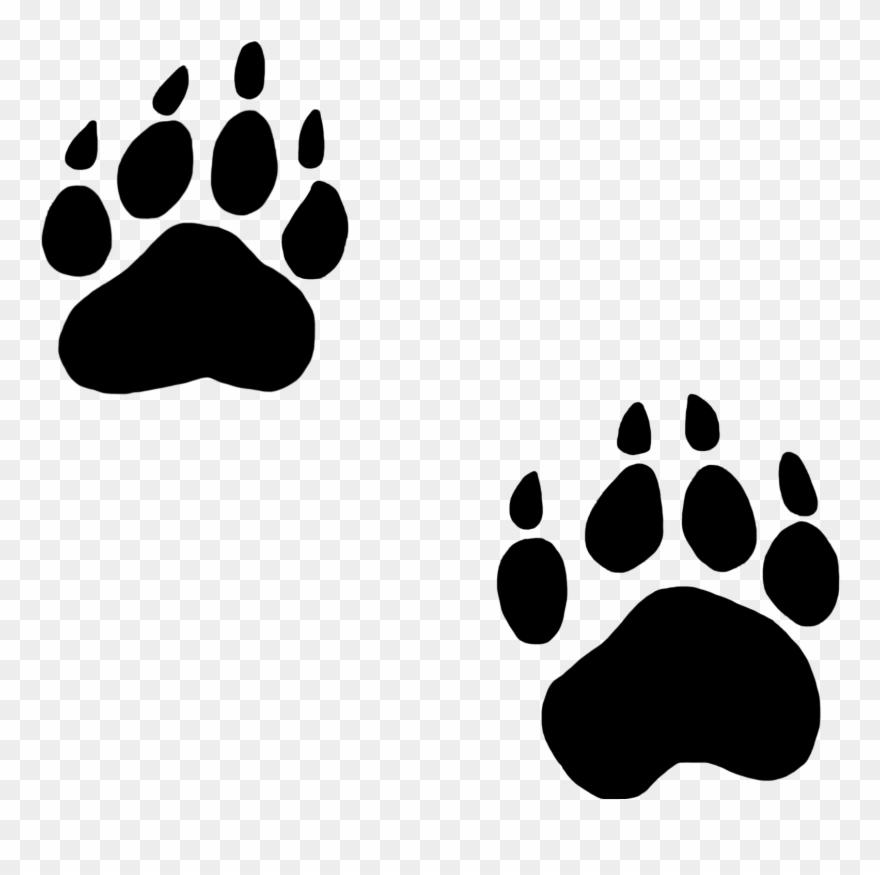Excellent Decoration Dog Paw Print Clip Art Black Silhouette.
