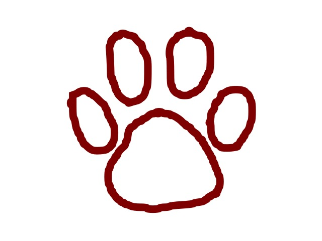 Grizzly Bear Paw Print Clip Art N3 free image.