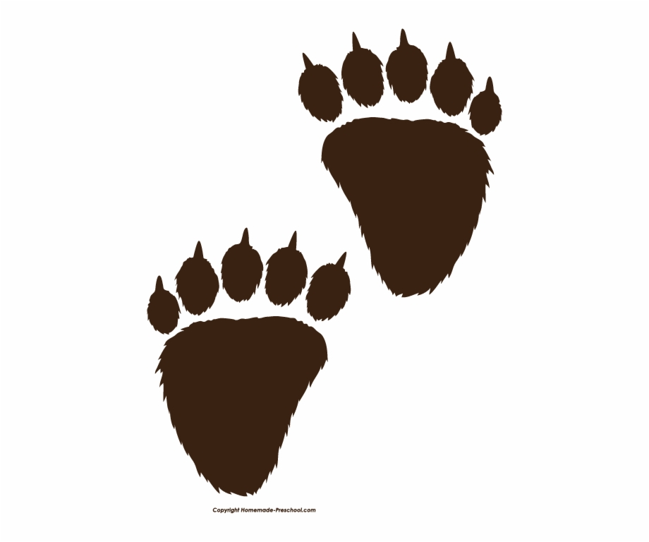 Bear Paw Print Black Clipart Pencil And In Png.