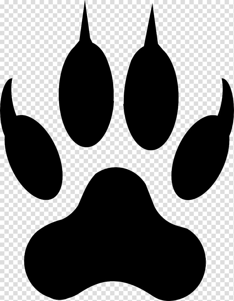 Bear paw illustration, Dog Cat Paw Coyote , paw prints transparent.