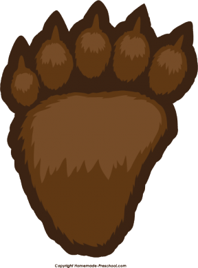 Bear Paw Print Clipart Png Clipground